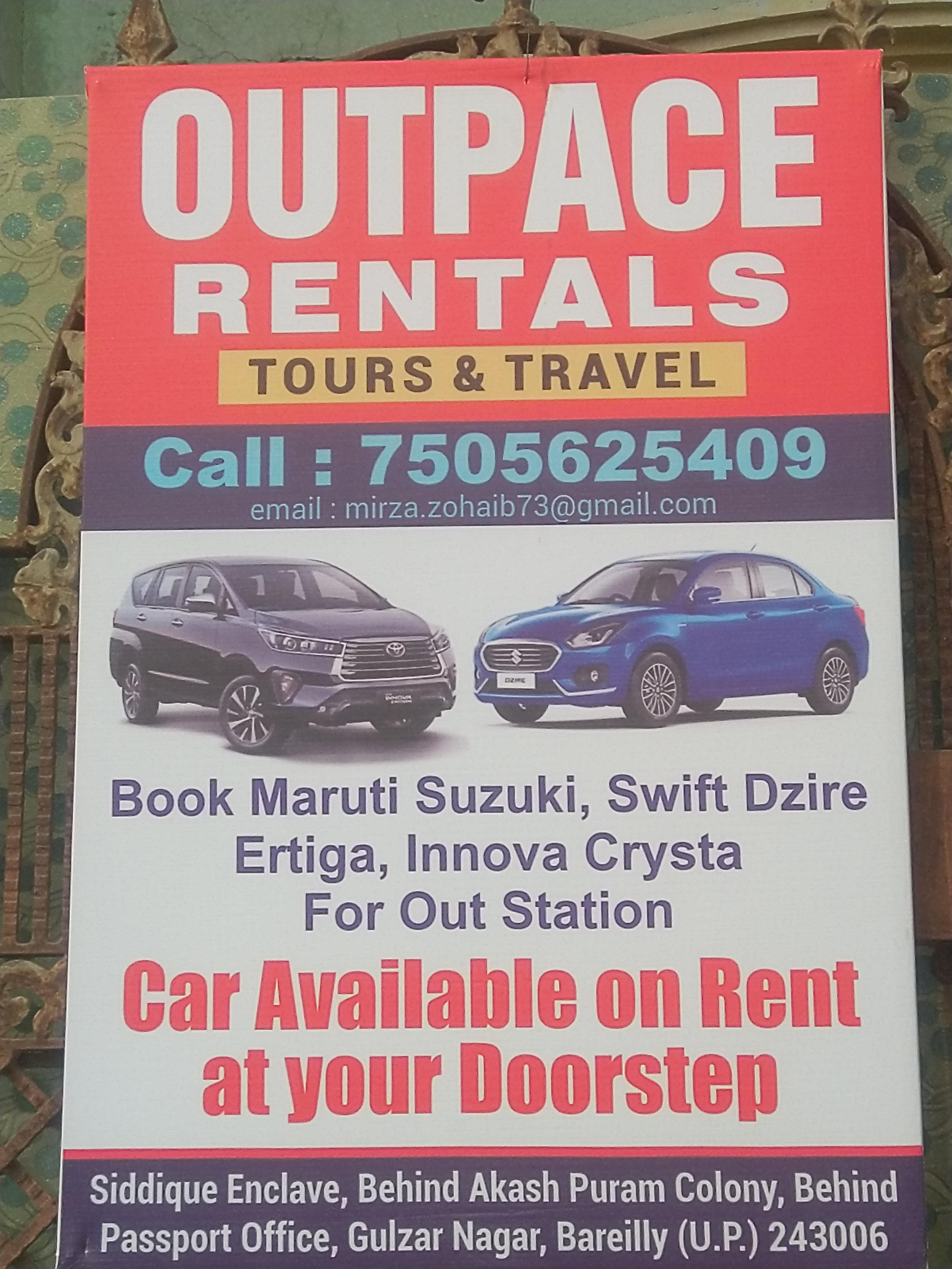 Outpace rentals tours & travel